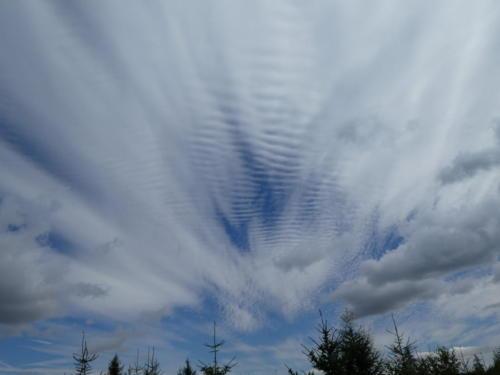 Merkwürdige Wolkenformation