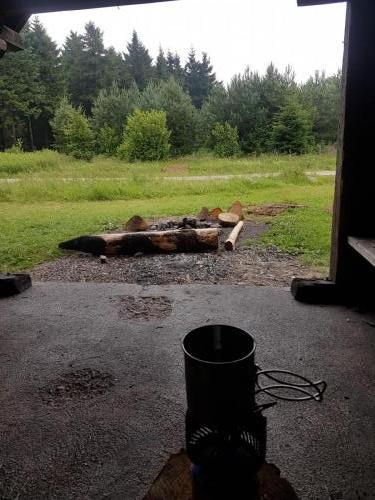 Mittagessen in einer der vielen Schutzhütten