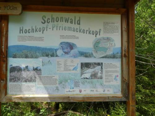 Infotafel am Hochkopf