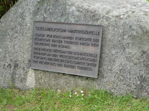 Infostein zur Martinskapelle